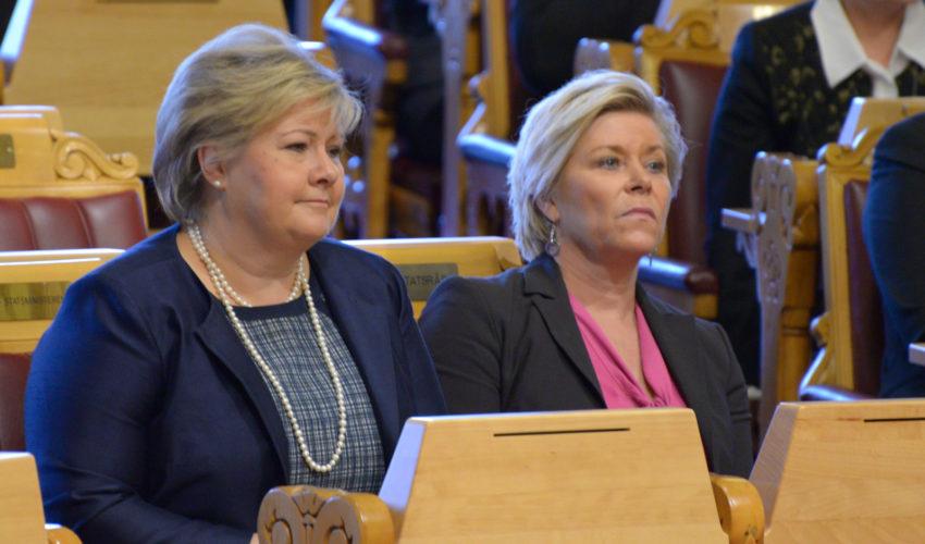 Erna Solberg og Siv Jensen