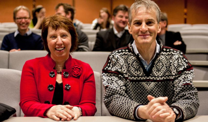Jonas Gahr Støre og Catherine Ashton
