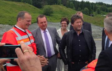E6-entusiastene Bjarne Brøndbo og Ketil Solvik-Olsen.