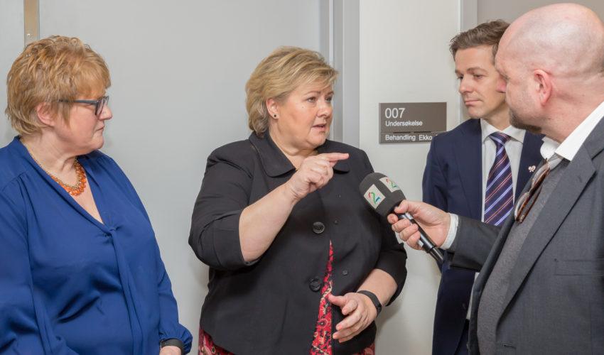 Erna Solberg, Venstre-leder Trine Skei Grande og KrF-leder Knut Arild Hareide