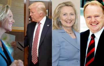 Listhaug, Trump, Clinton, Sandberg